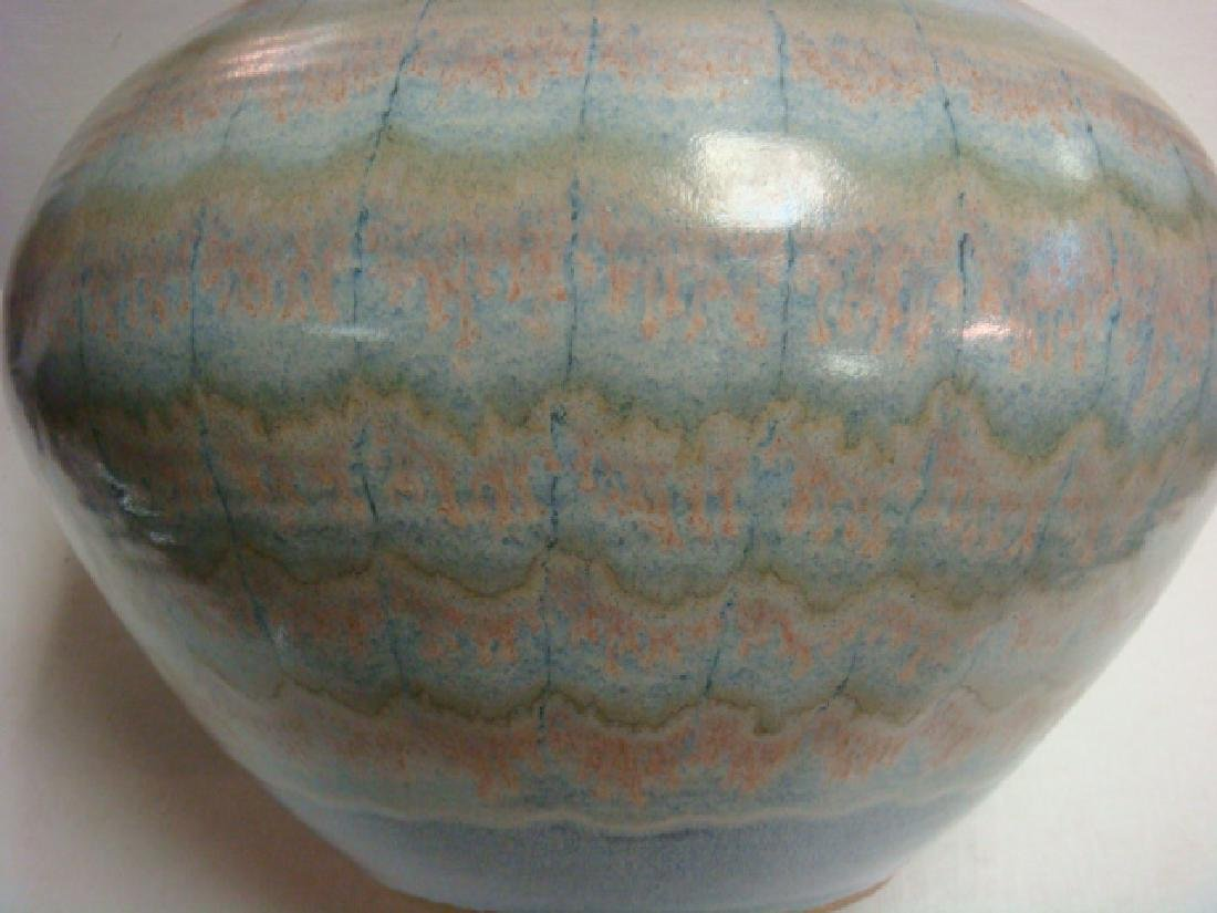 Signed Contemporary Art Pottery Vase: - 4