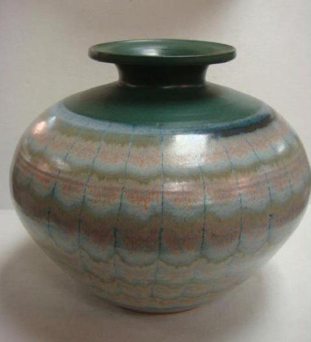 Signed Contemporary Art Pottery Vase: - 5