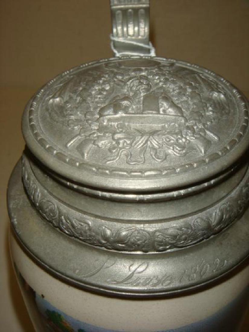 One Liter Stoneware Stein: - 4