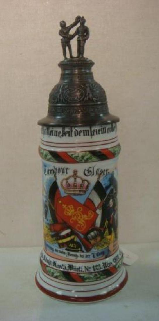 CA 1904 German Regimental Stein; Infantry Regiment: