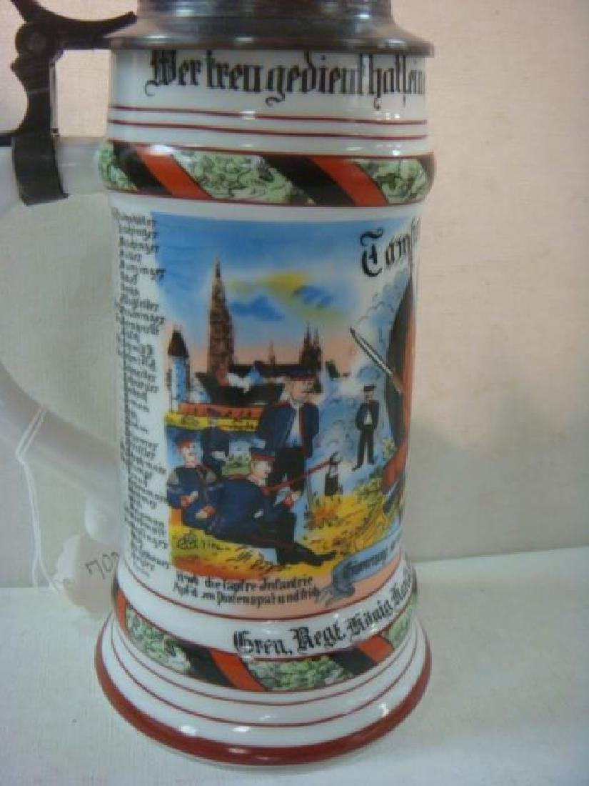 CA 1904 German Regimental Stein; Infantry Regiment: - 4