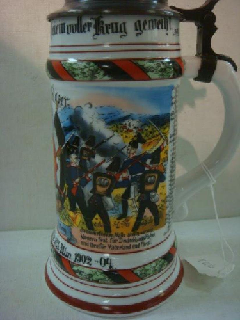 CA 1904 German Regimental Stein; Infantry Regiment: - 5