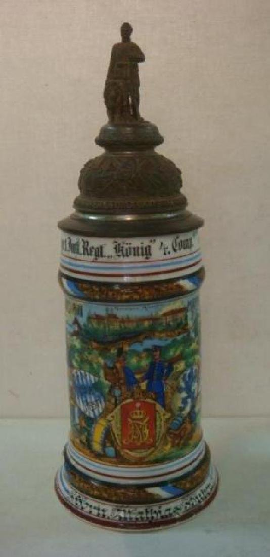 CA 1908 Bavarian Regimental Stein; Infantry Regiment: