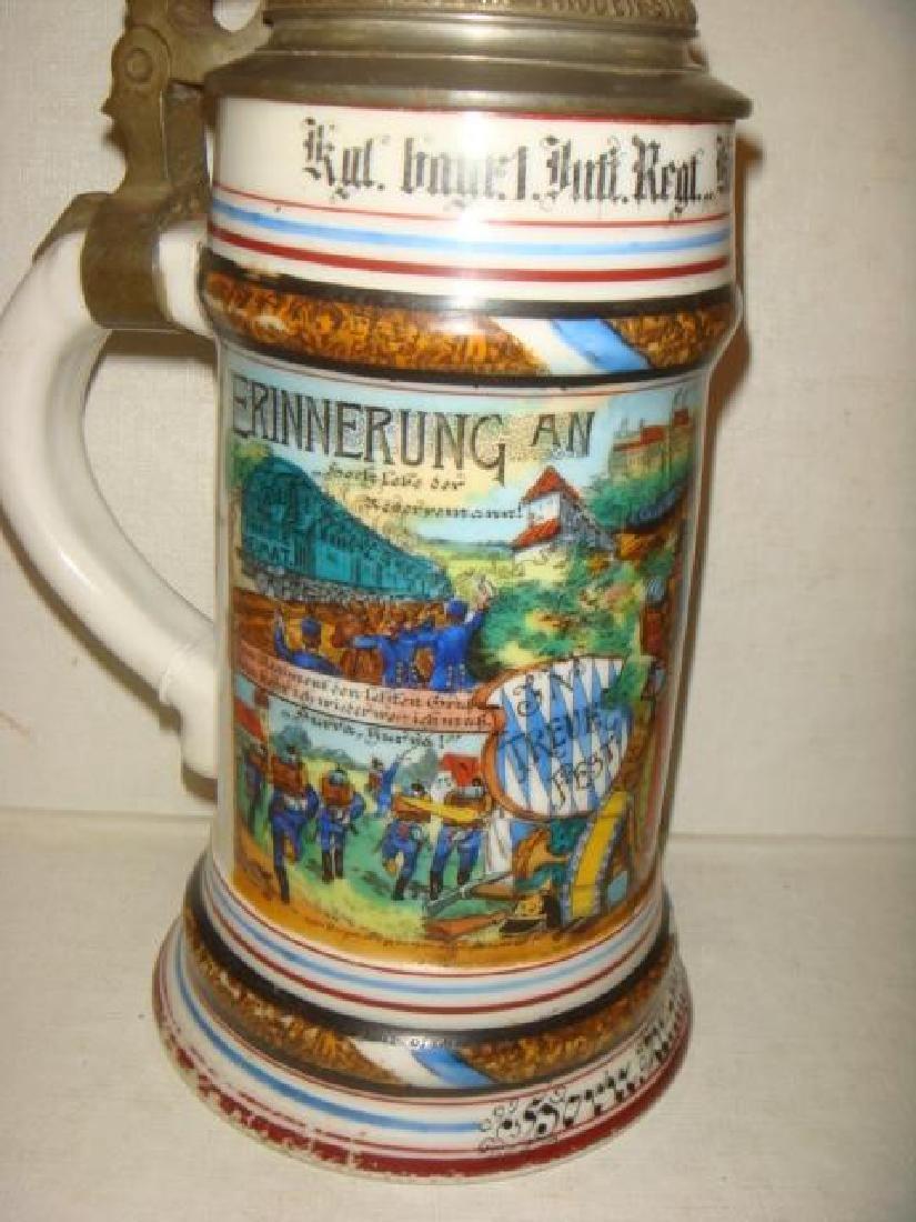 CA 1908 Bavarian Regimental Stein; Infantry Regiment: - 4