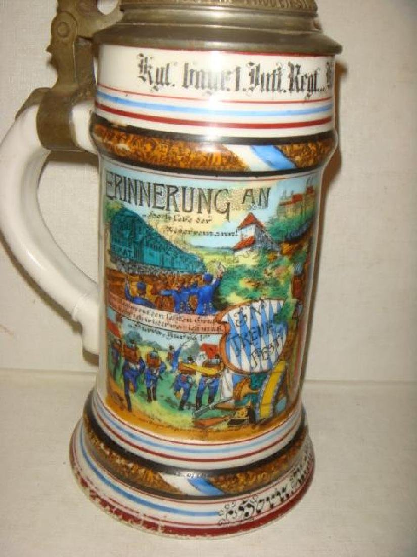 CA 1908 Bavarian Regimental Stein; Infantry Regiment: - 4