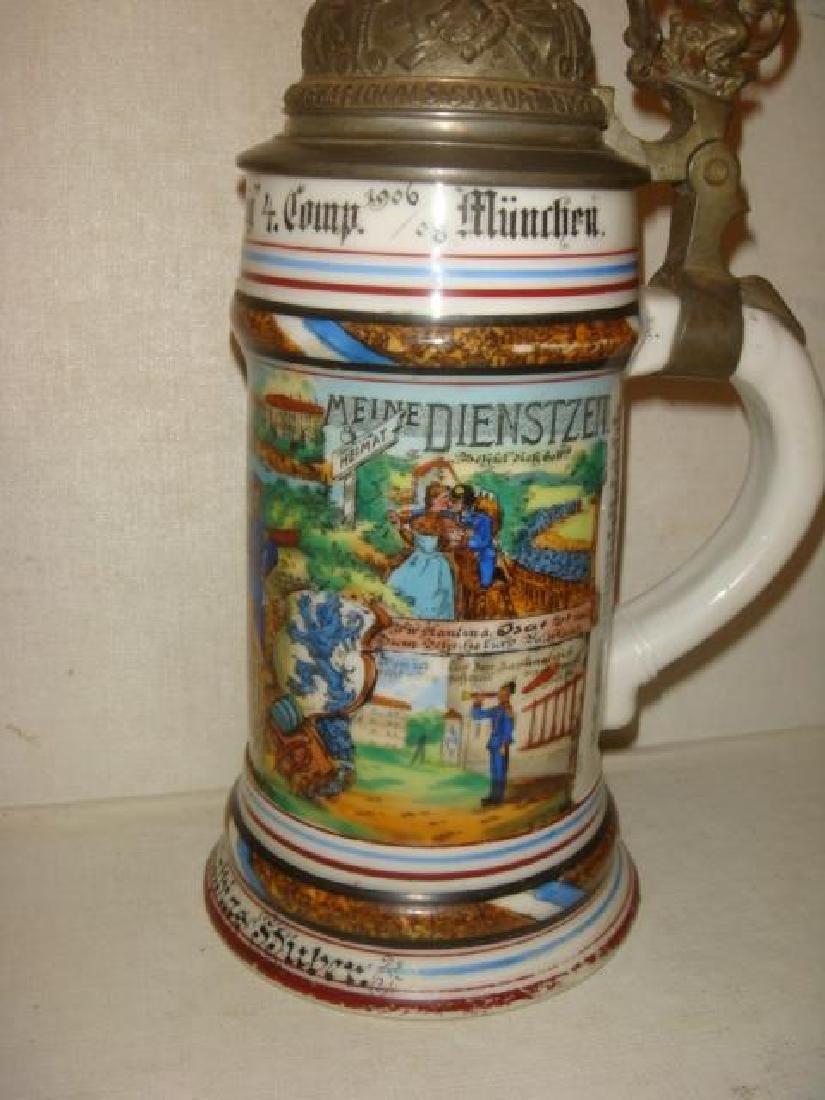 CA 1908 Bavarian Regimental Stein; Infantry Regiment: - 5
