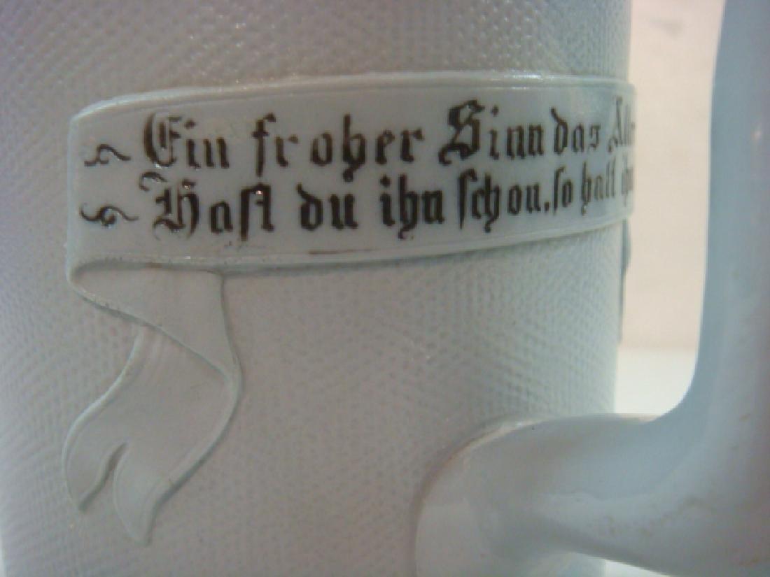 METTLACH 1664 One Liter Incised Stein on Tapestry: - 2