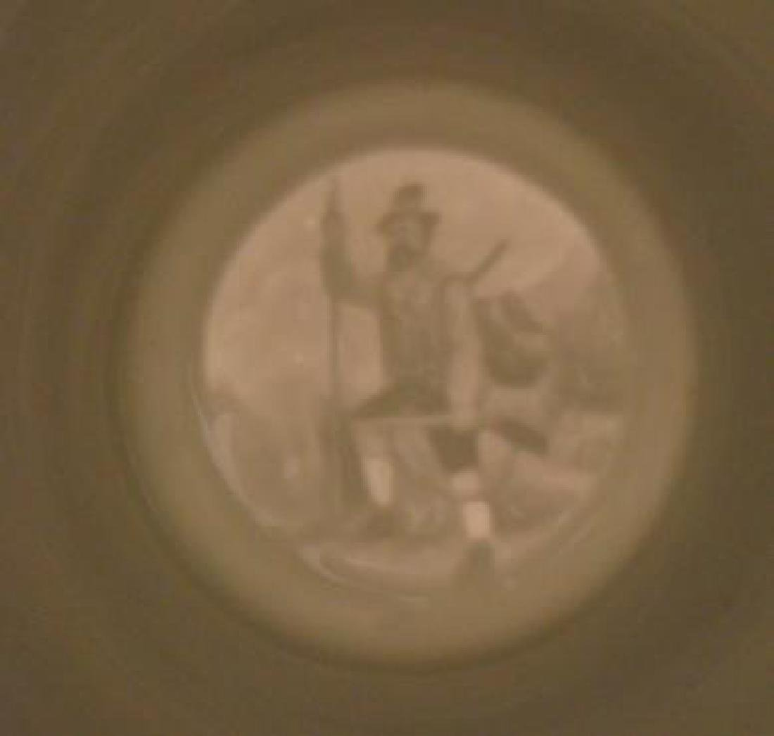 Two Hand painted Porcelain Steins with Lithophanes: - 4