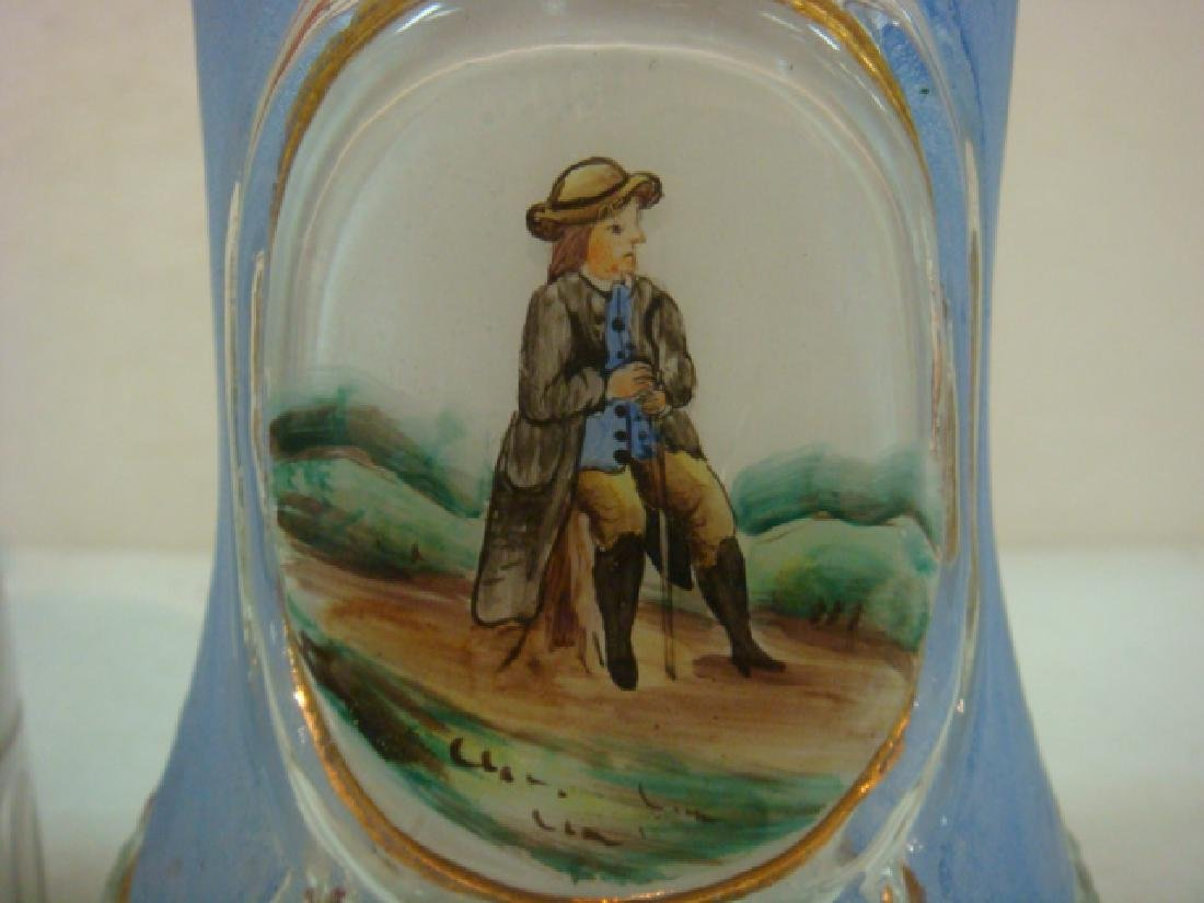 Two Glass Steins, One from 1860: - 2