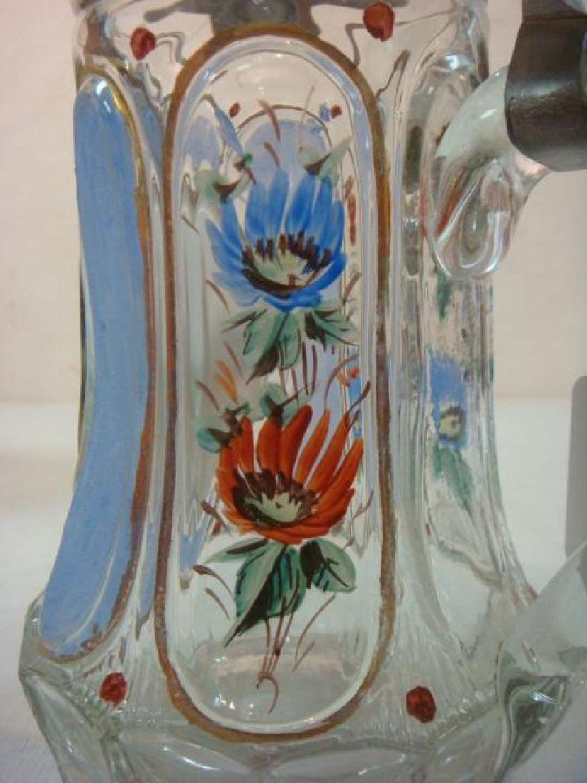 Two Glass Steins, One from 1860: - 4