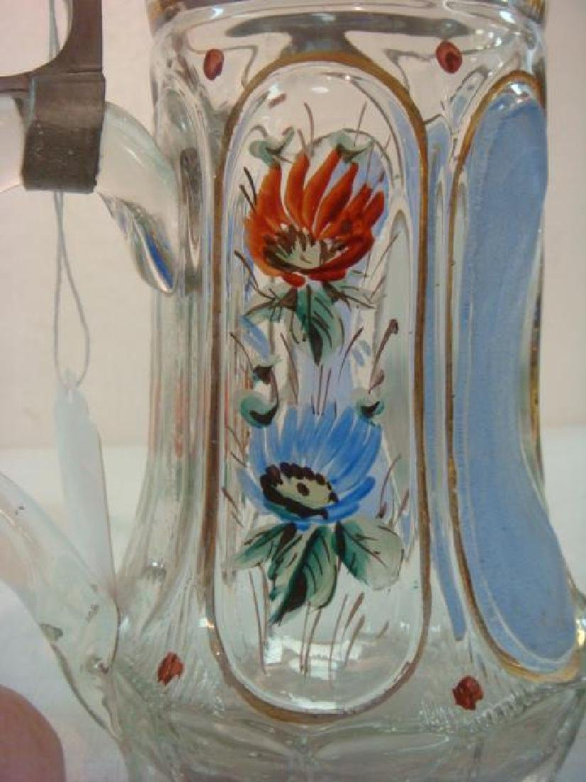 Two Glass Steins, One from 1860: - 5