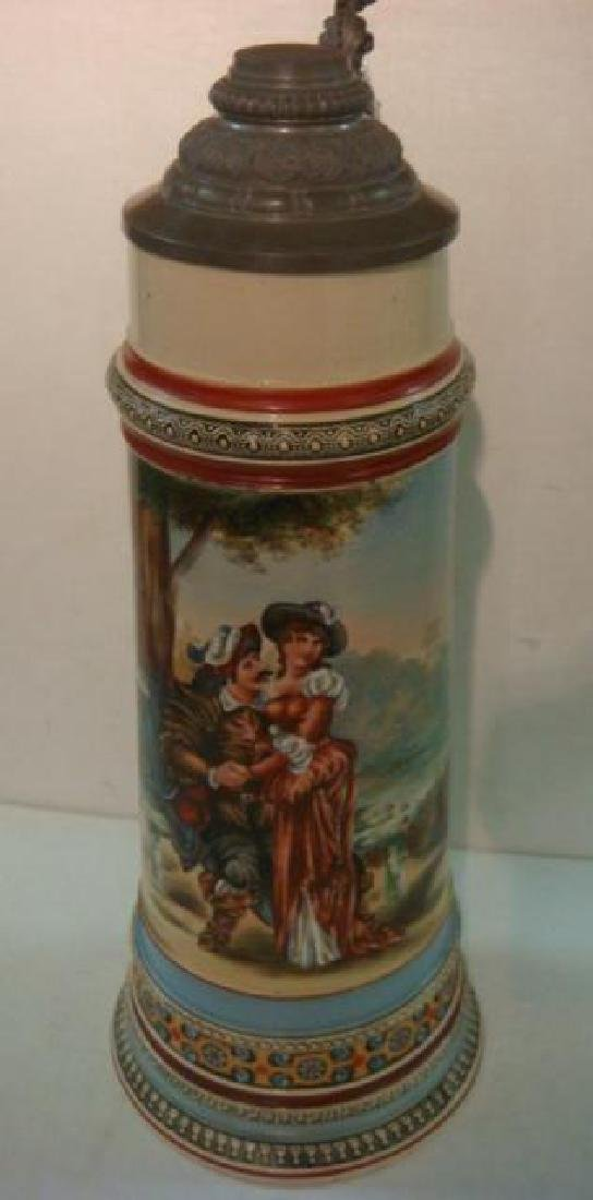 Five Liter Master Stein with Hand painted Lovers: