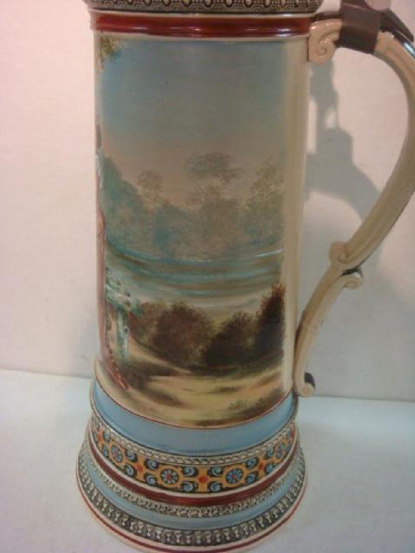 Five Liter Master Stein with Hand painted Lovers: - 4