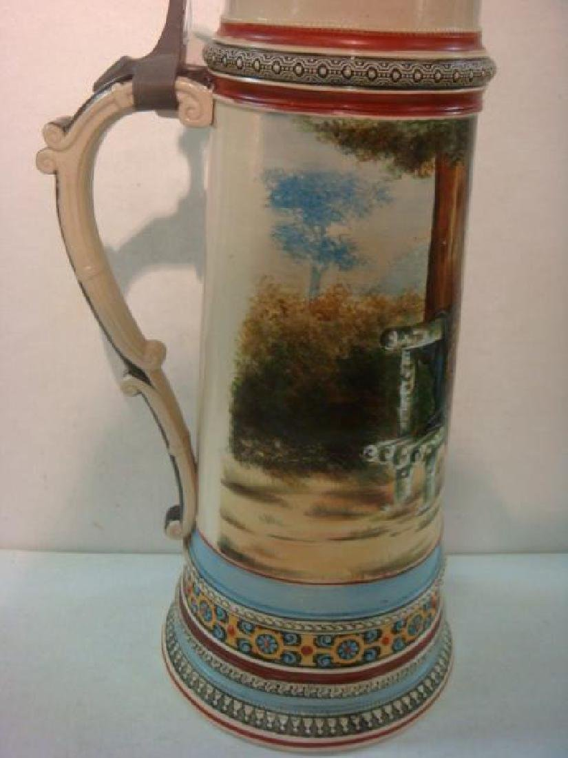 Five Liter Master Stein with Hand painted Lovers: - 5