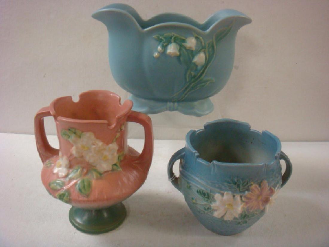 WELLER and ROSEVILLE Pottery Vases: