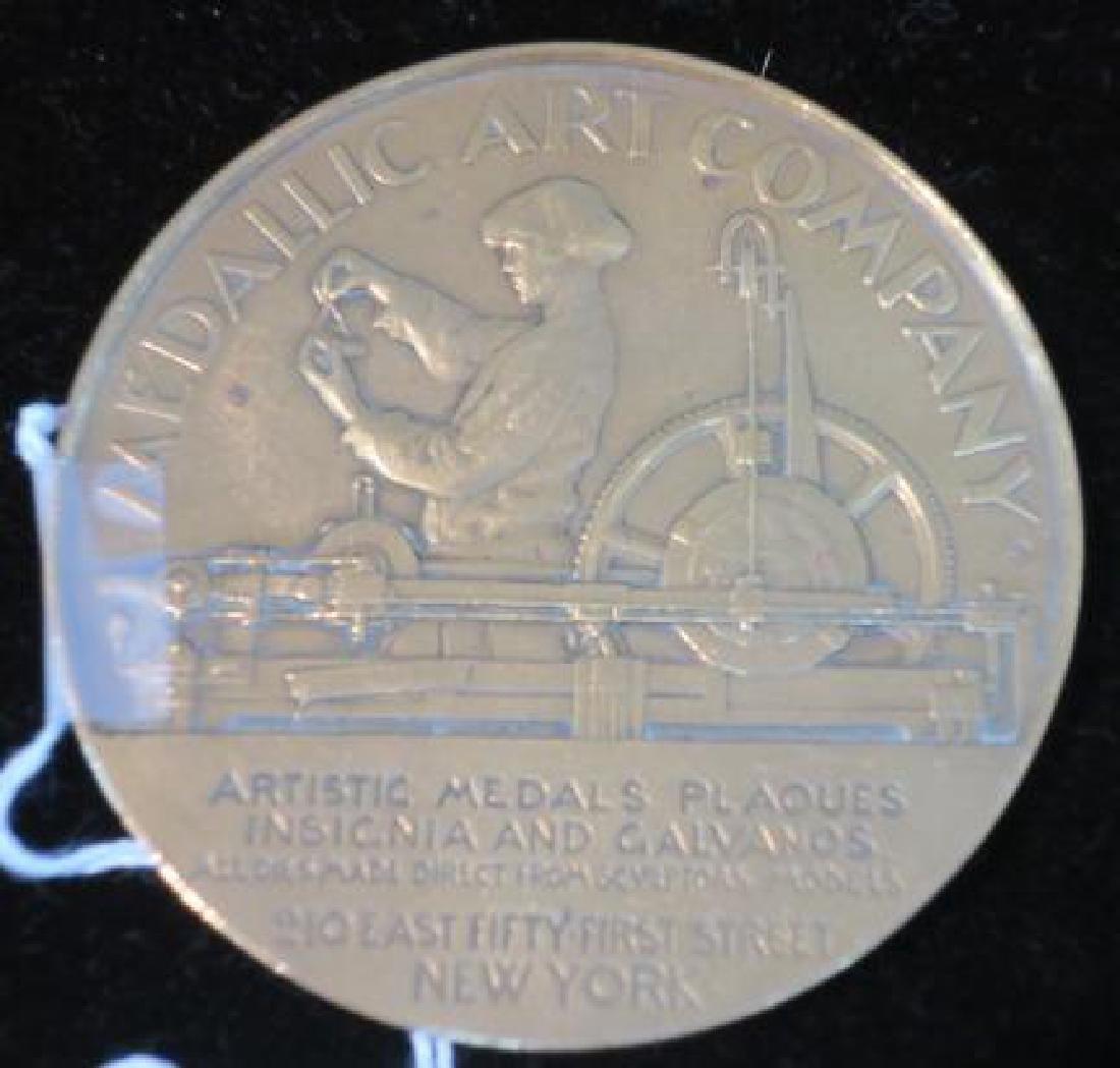 MEDALLIC ART COMPANY Brass Medallion, 1903-1928: