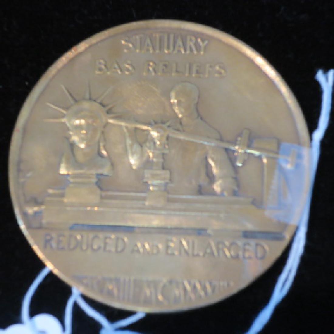 MEDALLIC ART COMPANY Brass Medallion, 1903-1928: - 2