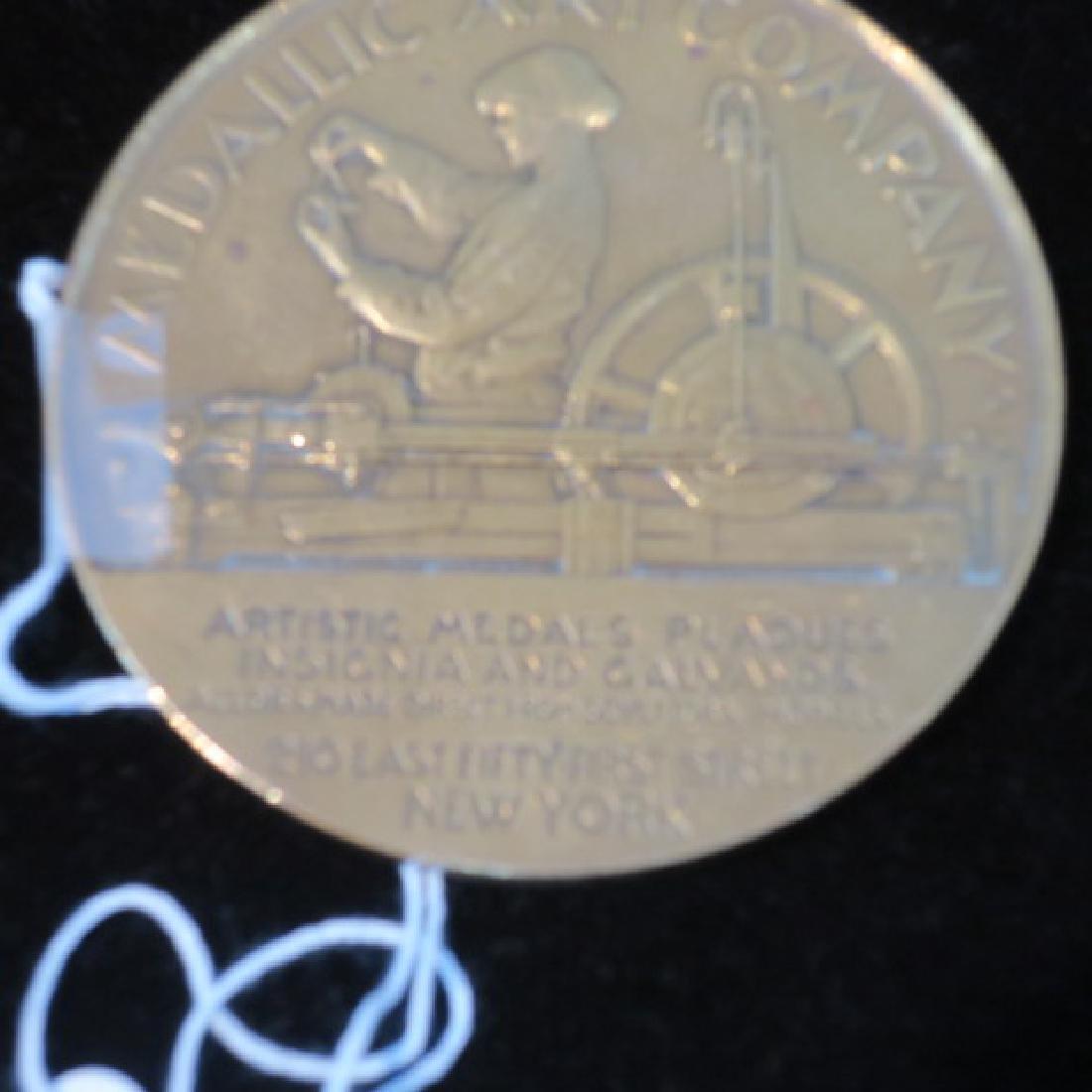 MEDALLIC ART COMPANY Brass Medallion, 1903-1928: - 3