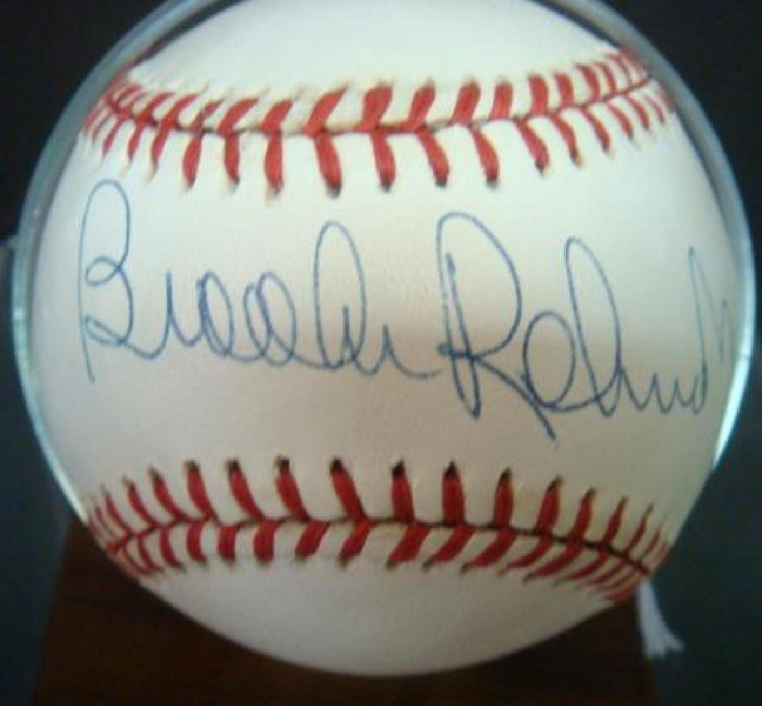BROOKS ROBINSON Autographed Baseball in Holder: