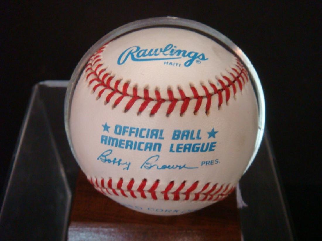 BROOKS ROBINSON Autographed Baseball in Holder: - 2