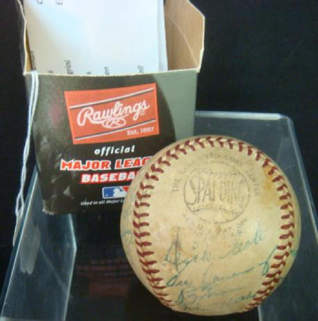 Rare 1953 PITTSBURGH PIRATES Team Signed Ball: