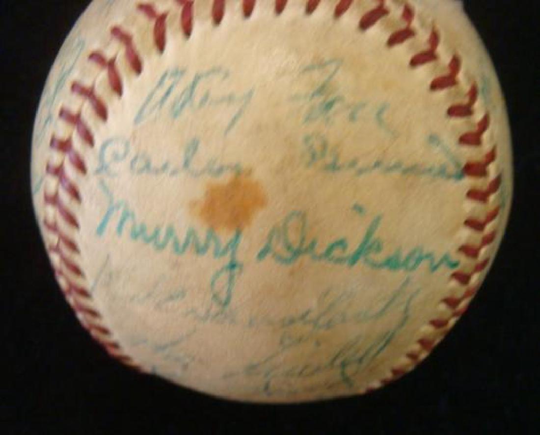 Rare 1953 PITTSBURGH PIRATES Team Signed Ball: - 2