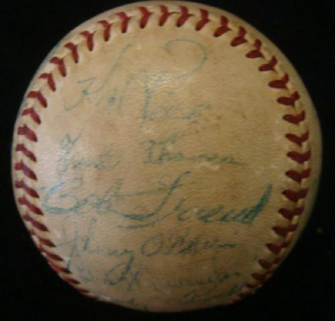 Rare 1953 PITTSBURGH PIRATES Team Signed Ball: - 3