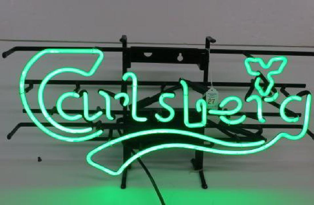 CARLSBERG Green Neon Bar Sign: