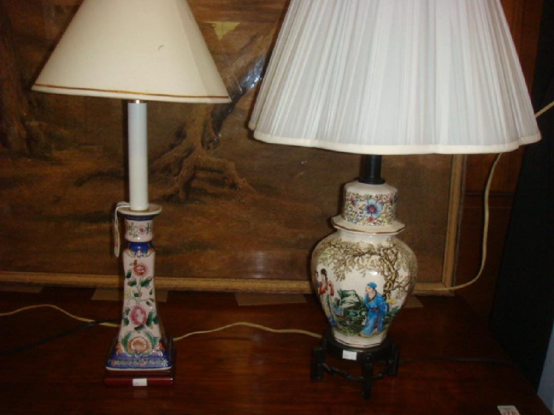 Two Asian Style Table Lamps: