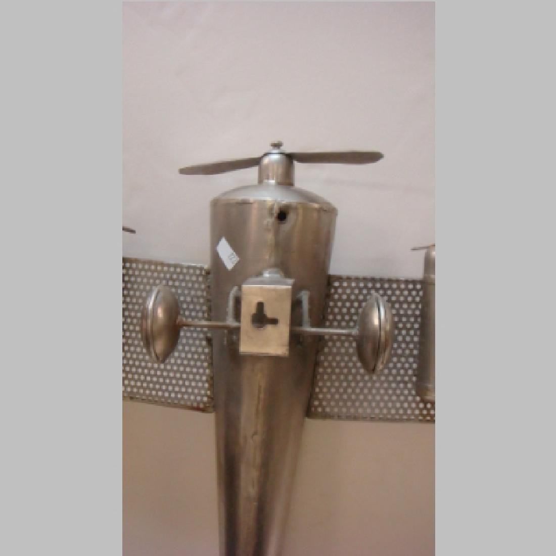WW II Era Silver Metal Toy Five Engine Bomber: - 3