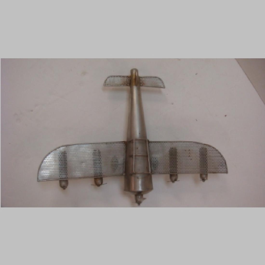 WW II Era Silver Metal Toy Five Engine Bomber: - 4