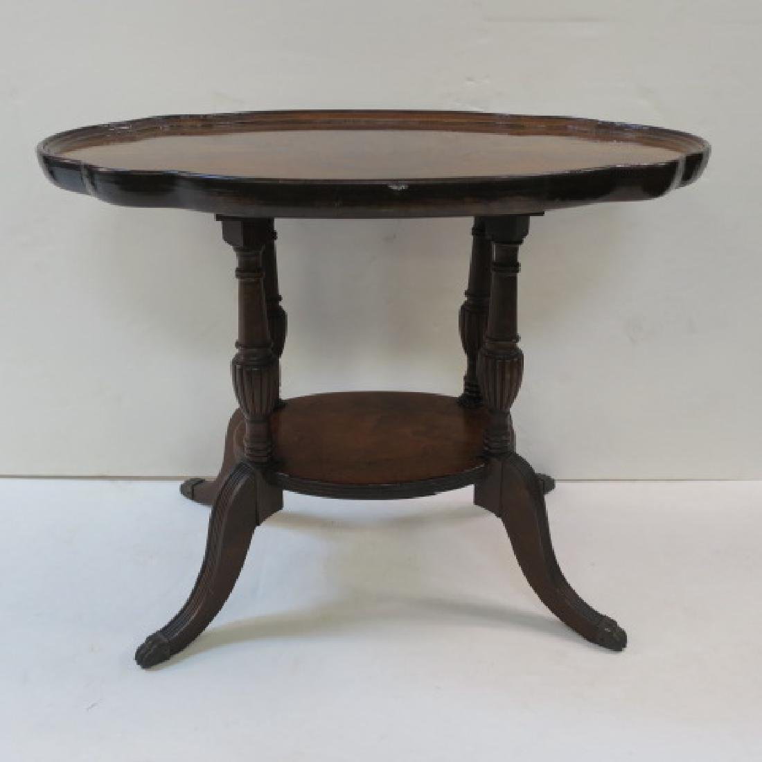 Antique Figural Mahogany Platform Table: