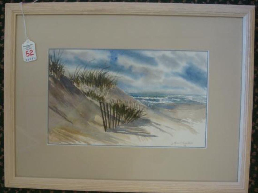 Beach Watercolor Signed J DANIEL CHAMBLEE:
