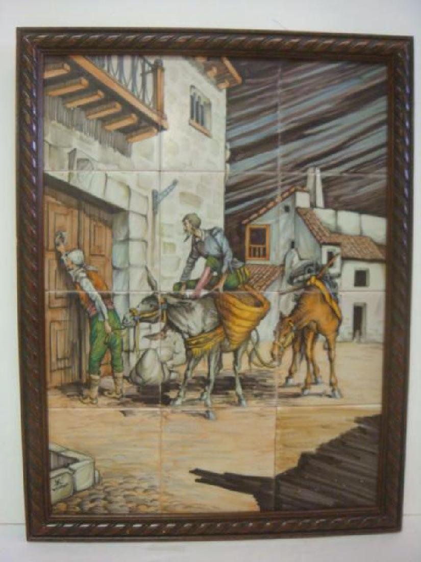 Framed Ceramic Tile Mural of DON QUIXOTE: