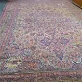 Large Antique Iranian Kerman Room Size Carpet