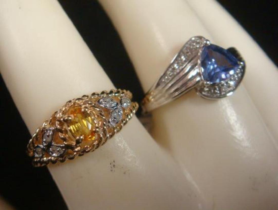 Two Ladies Gemstone Rings: