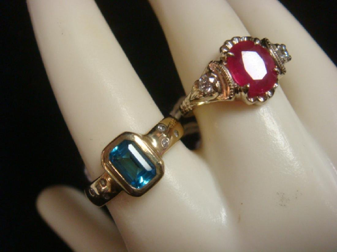 Two Semi-Precious Stone Rings for Ladies: