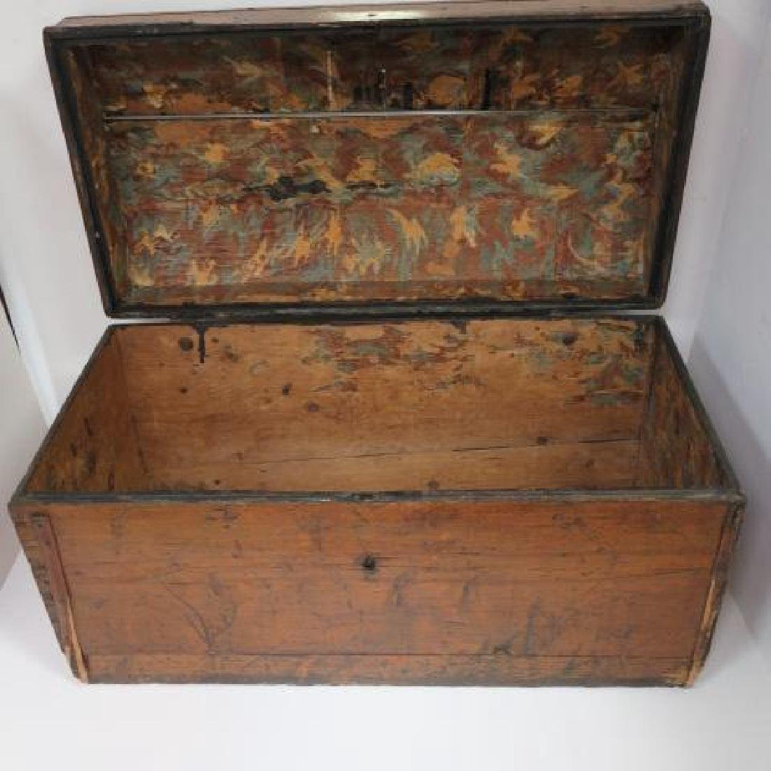 18th C. Oak Dome Top Storage Chest: