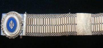 18 KT Victorian Inspired Bracelet Watch Convertible: