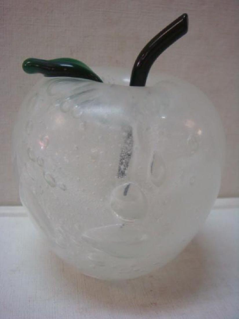 Signed Art Glass Apple Perfume Bottle: