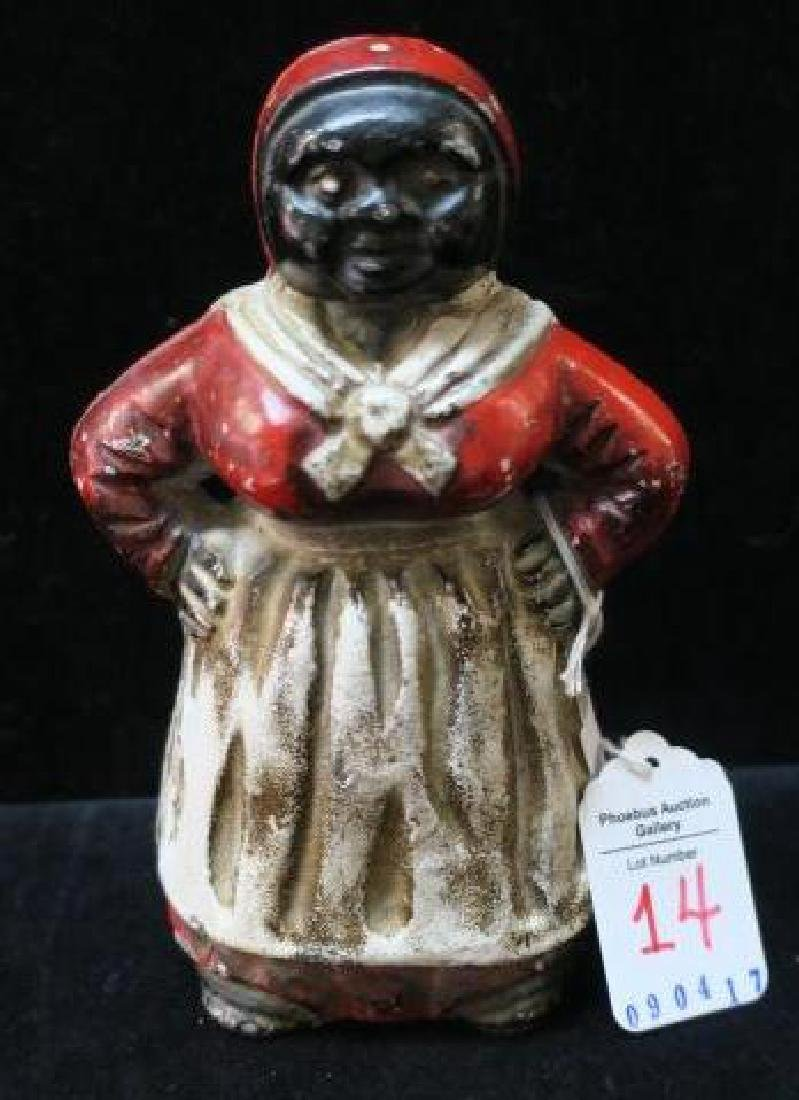 Vintage Cast Iron Mammy Bank by HUBLEY: