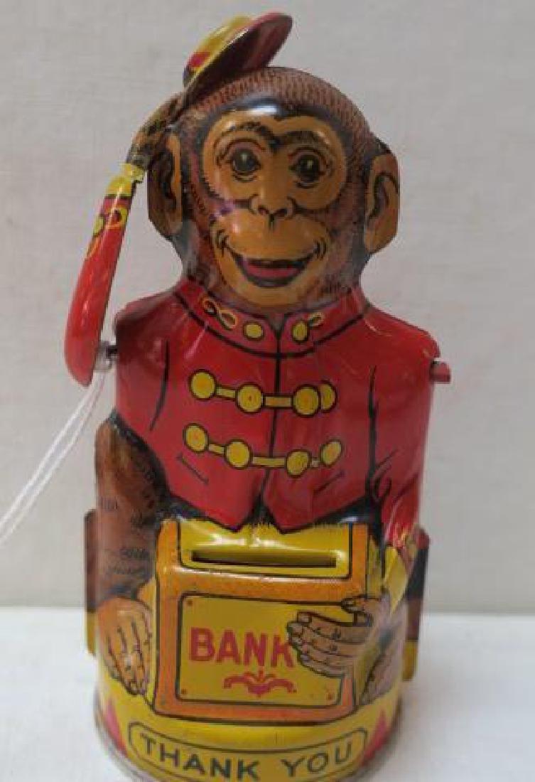 Mechanical Organ Grinder Monkey Bank, J CHEIN & CO: