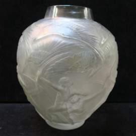 """LALIQUE """"ARCHERS"""" Vase:"""