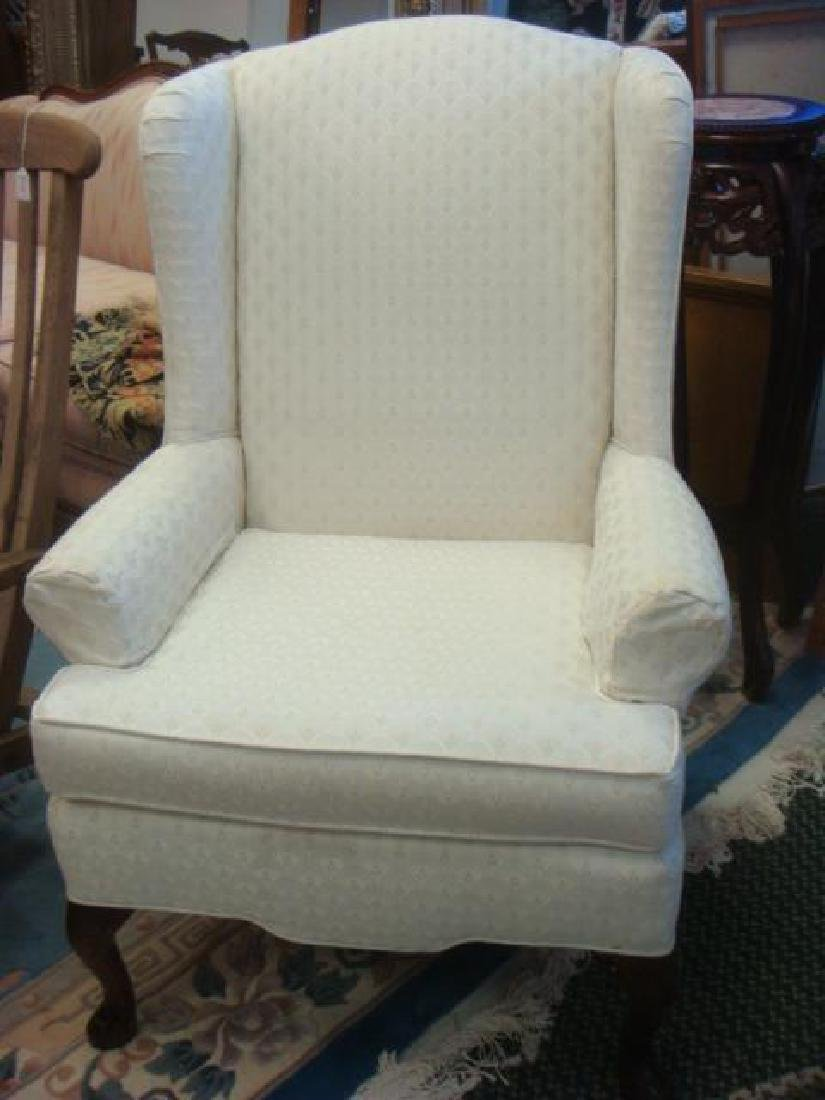 Upholstered Queen Anne Style Wing Chair by CRAFTSMAN: