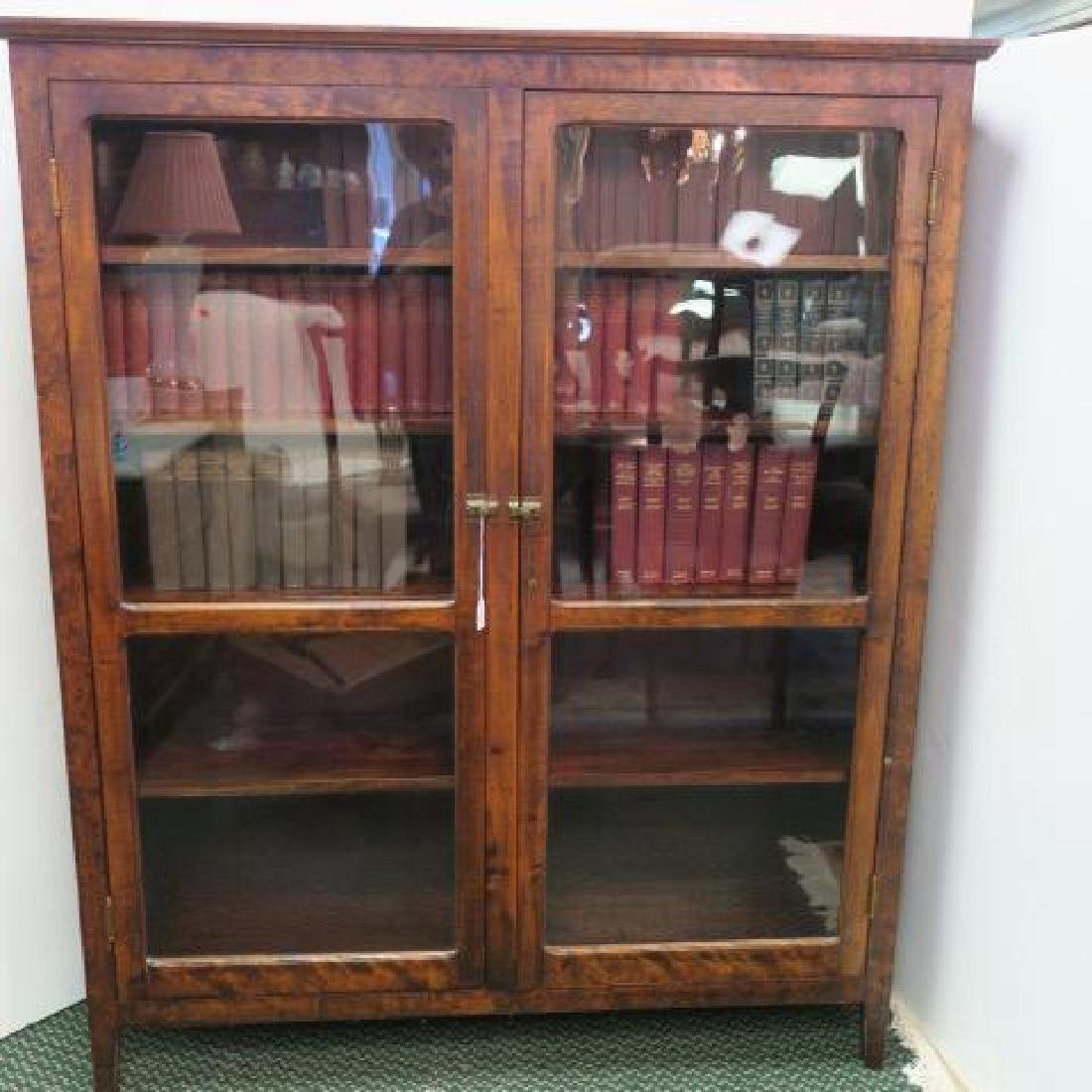 18th Century Hand built Poured Glass Front Bookcase: