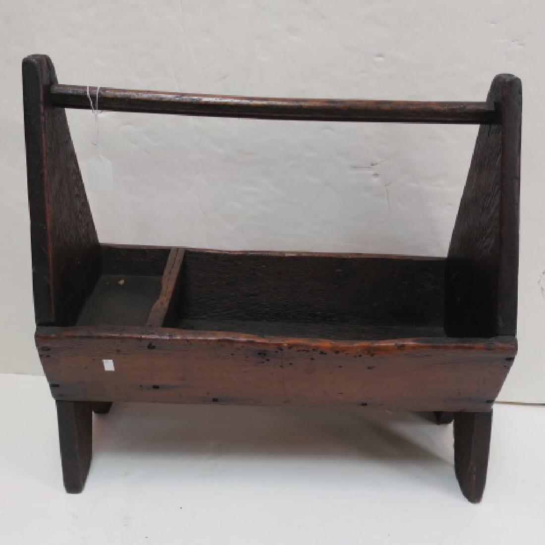 Handmade Primitive Workman's Tool Caddy: