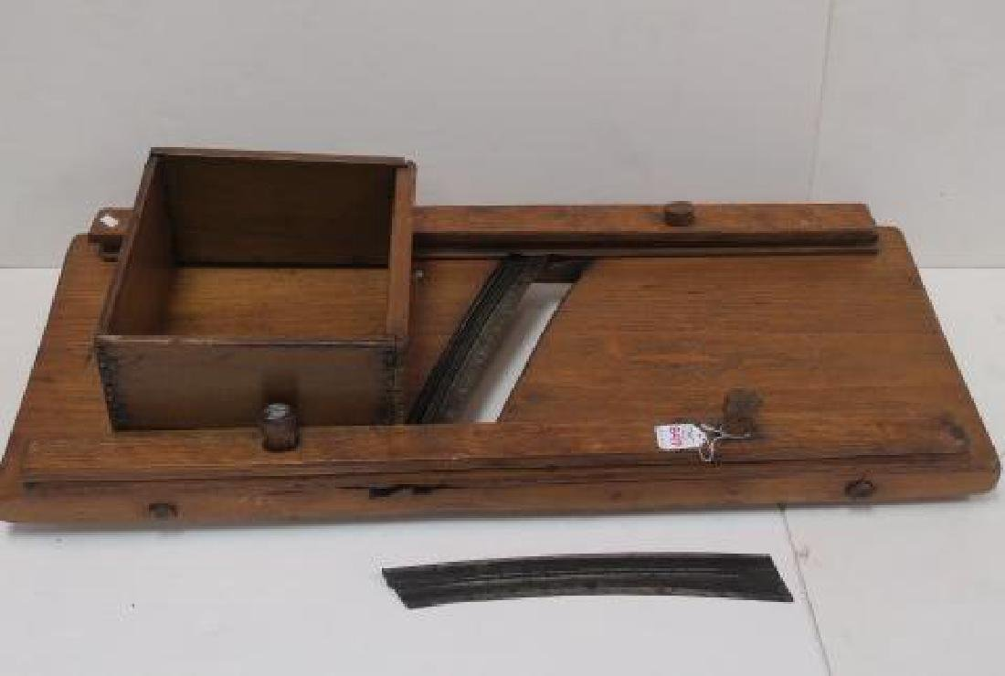 Primitive 19th C. Wooden Kraut Cutter: