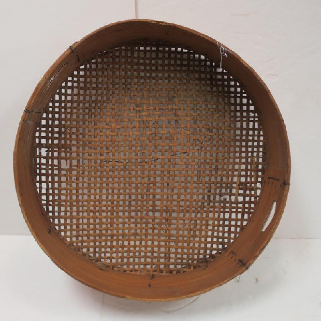 Large Round Bentwood Grain Sifter: