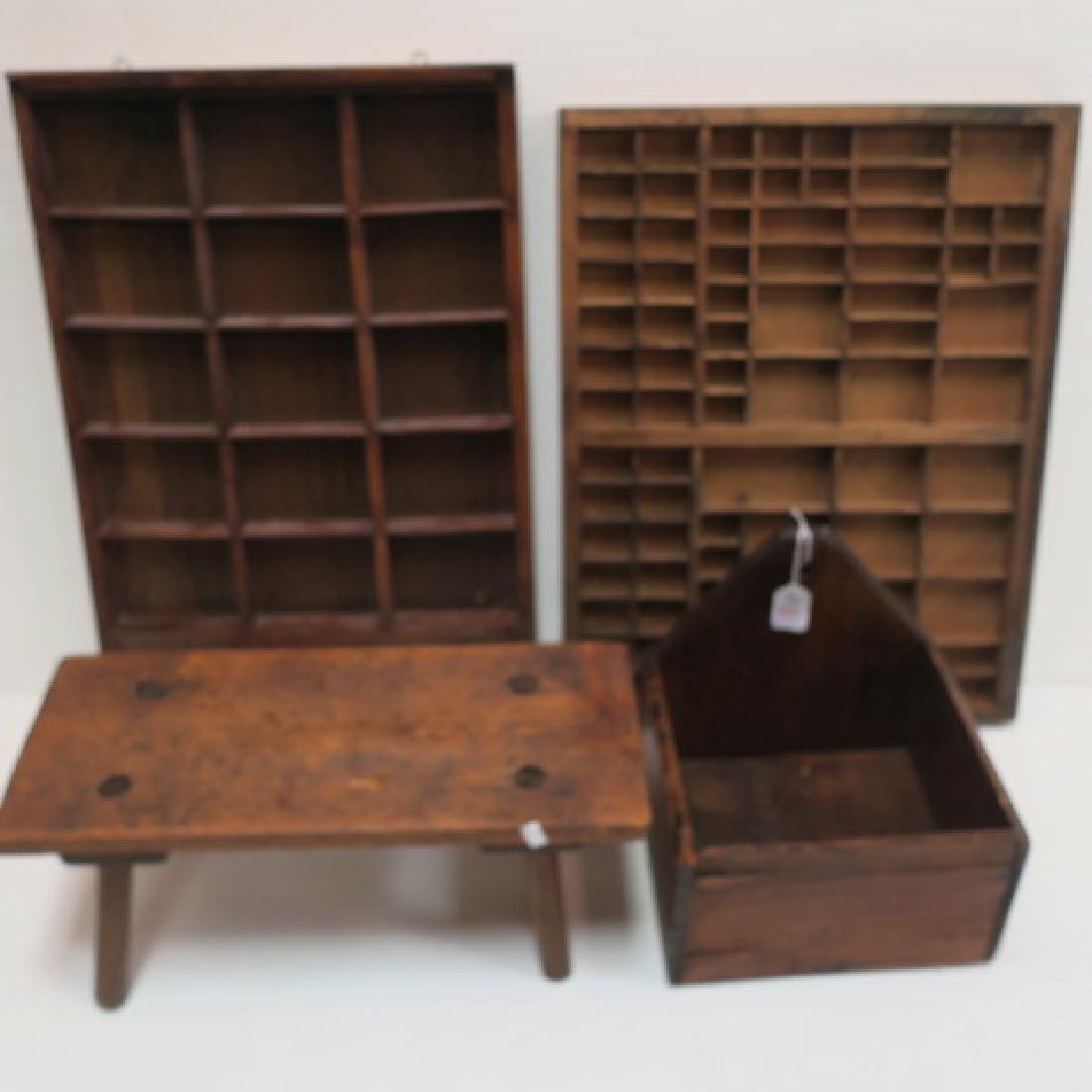19th Century Primitives-Four Piece Lot: