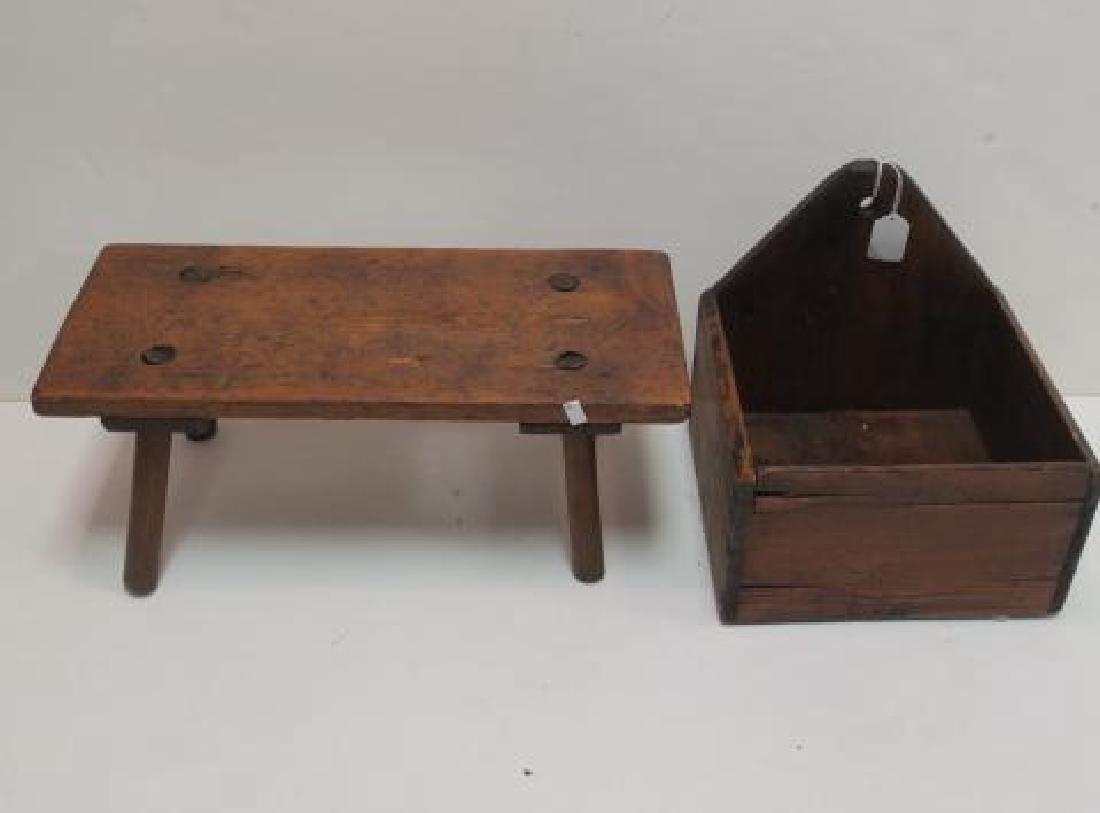 19th Century Primitives-Four Piece Lot: - 3